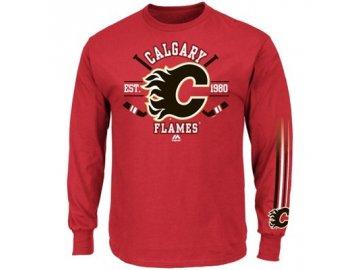 Tričko Calgary Flames Cross Check - dlouhý rukáv