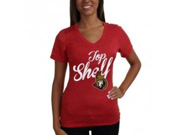 Tričko Ottawa Senators Shelf Tri-Blend - dámské