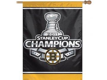 "Vlajka - ""On Ice"" - Boston Bruins 2011 Stanley Cup Champions"
