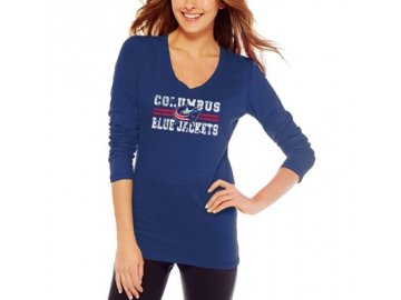 Tričko Columbus Blue Jackets Distressed Lines Slub - dámské