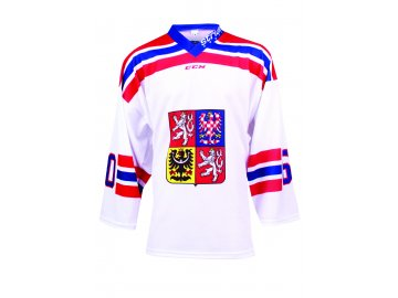Dres Czech Ice Hockey Team CCM sublimace - bílý