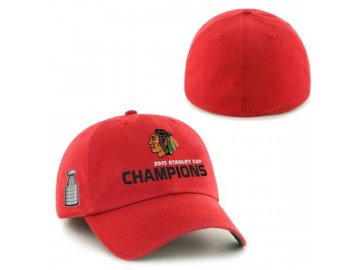 Kšiltovka Chicago Blackhawks 2015 Stanley Cup Champions Franchise RED