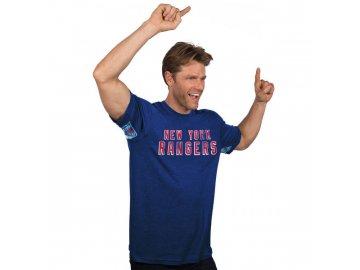 Tričko New York Rangers Hands High Tri-Blend