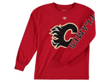Dětské tričko Calgary Flames Old Time Hockey Two Hit Long Sleeve