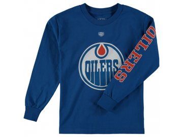 Dětské tričko Edmonton Oilers Old Time Hockey Two Hit Long Sleeve