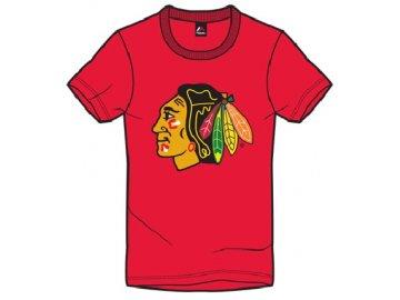 Tričko Chicago Blackhawks Majestic Jask - červené