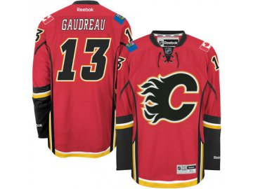 Dres Johnny Gaudreau #13 Calgary Flames Premier Jersey Home