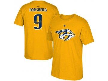Tričko Filip Forsberg #9 Nashville Predators - Yellow