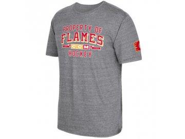 Tričko Calgary Flames CCM Property Block Tri-Blend