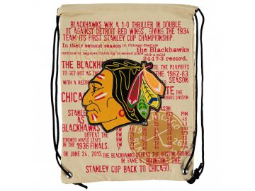 NHL vak Chicago Blackhawks Historic Canvas Drawstring