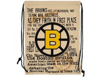 NHL vak Boston Bruins Historic Canvas Drawstring