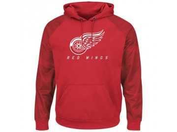 Mikina Detroit Red Wings Majestic Penalty Shot Therma Base Hoodie