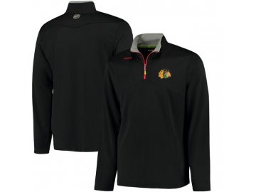 Mikina Chicago Blackhawks Center Ice Quarter-Zip Baselayer