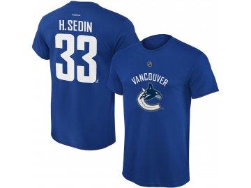 Dětské tričko Henrik Sedin Vancouver Canucks NHL Name & Number (Velikost Dětské L (11 - 12 let), Distribuce USA)