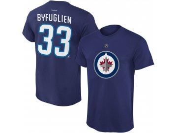 Dětské tričko Dustin Byfuglien Winnipeg Jets NHL Name & Number (Velikost Dětské L (11 - 12 let), Distribuce USA)