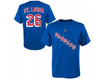 Dětské tričko Martin St. Louis New York Rangers NHL Name & Number (Velikost Dětské L (11 - 12 let), Distribuce USA)