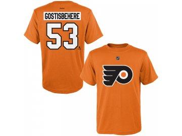 Dětské tričko Shayne Gostisbehere Philadelphia Flyers NHL Name & Number (Velikost Dětské L (11 - 12 let), Distribuce USA)