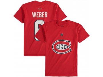 Dětské tričko Shea Weber Montreal Canadiens NHL Name & Number (Velikost Dětské L (11 - 12 let), Distribuce USA)