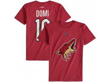 Dětské tričko Max Domi Arizona Coyotes NHL Name & Number (Velikost Dětské L (11 - 12 let), Distribuce USA)