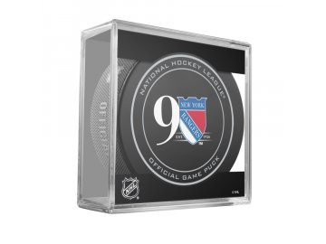 NY RANGERS 90TH ANNI GAME PUCK CUBE 2016 900x900