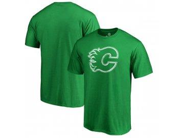 Tričko Calgary Flames St. Patrick's Day White Logo