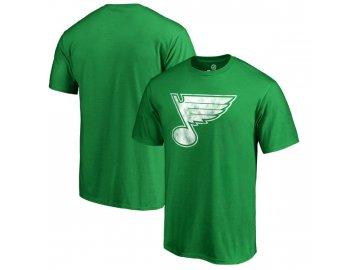 Tričko St. Louis Blues St. Patrick's Day White Logo