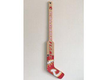 Dřevěná minihokejka Calgary Flames Brankářská
