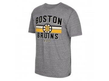 Tričko Boston Bruins CCM Classic Stripe Tri-Blend
