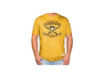 Tričko Pittsburgh Penguins Original Retro Brand 2017 Stanley Cup Champions Mock Twist