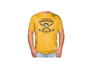 Tričko Pittsburgh Penguins Original Retro Brand 2017 Stanley Cup Champions Mock Twist