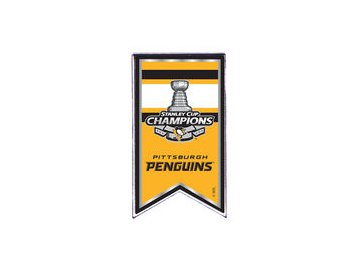 Odznak Pittsburgh Penguins 2017 Stanley Cup Champions Banner Pin
