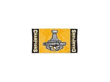 Plážová osuška Pittsburgh Penguins WinCraft 2017 Stanley Cup Champions On Ice 22'' x 42'' Locker Room Towel
