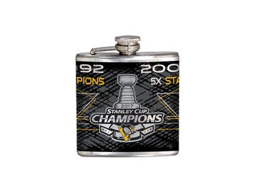 Placatka Pittsburgh Penguins 2017 Stanley Cup Champions 6oz. Hip Flask