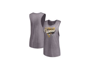 Dámské tričko Pittsburgh Penguins Let Loose by RNL Women's 2017 Stanley Cup Champions Flow Tri-Blend Tank Top - Steel