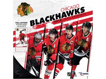 Kalendář Chicago Blackhawks 2018 Team Wall