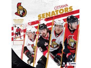 Kalendář Ottawa Senators 2018 Team Wall