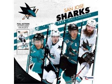 Kalendář San Jose Sharks 2018 Team Wall