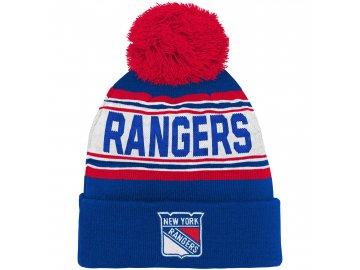 Dětská zimní čepice  New York Rangers NHL Wordmark Cuffed