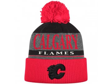 Kulich Calgary Flames Cuffed Knit Hat With Pom