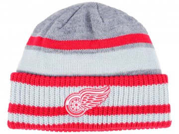 Zimní čepice Detroit Red Wings adidas NHL Heathered Grey Beanie