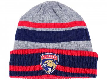 Zimní čepice Florida Panthers adidas NHL Heathered Grey Beanie