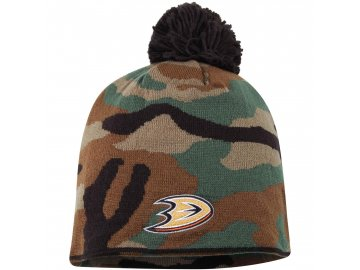 Kulich Anaheim Ducks Reebok Camo Cuffless Knit Beanie With Pom