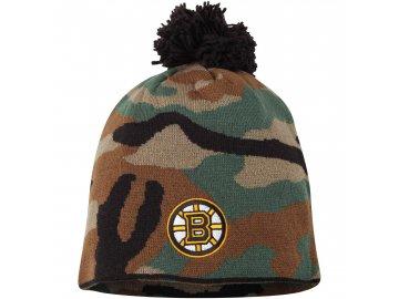 Kulich Boston Bruins Reebok Camo Cuffless Knit Beanie With Pom