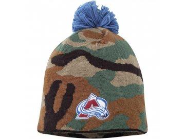 Kulich Colorado Avalanche Reebok Camo Cuffless Knit Beanie With Pom