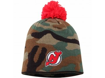 Kulich New Jersey Devils Reebok Camo Cuffless Knit Beanie With Pom