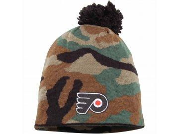 Kulich Philadelphia Flyers Reebok Camo Cuffless Knit Beanie With Pom