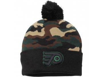 Kulich Philadelphia Flyers New Era Camo Top 2 Woodland Knit Beanie