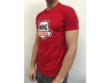 Tričko Fanda-NHL.cz Primary Logo RED