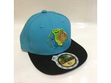 Dětská kšiltovka Chicago Blackhawks New Era 59Fifty Neon Crown