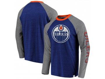 Tričko Edmonton Oilers True Classics Tri-Blend Raglan
